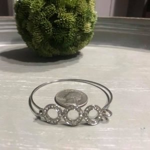 Circle Rhinestone Bangle